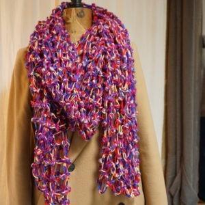 Echarpe acrylique multicolore pour l'hiver
