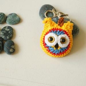 Un petit hibou jaune pour vos clés !