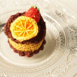 Un joli gâteau à l'orange